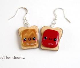 Kawaii Peanut Butter and Jelly Earrings