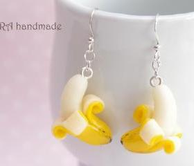 Cute banana earrings